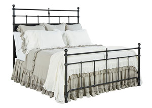 Trellis Metal King Bed, Kettle Finish