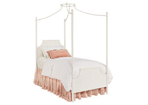 Manor Iron Canopy Full Bed, Jo's White Finish