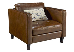 Dapper Coffee Leather Chair