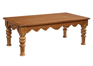 Scallop Bench Coffee Table