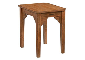 Bracket End Table, Bench Finish