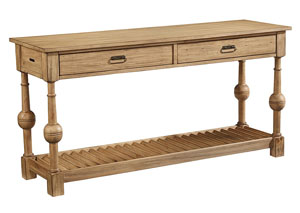 Louver Wheat Console Table