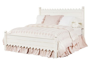 Scallop Queen Bed, Jo's White Finish