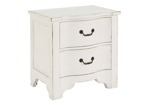La Grange Jo's White 2-Drawer Nightstand