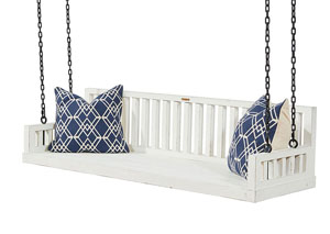 Ferguson Jo's White Porch Swing