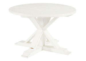 Childers White Round Dining Table