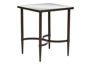 Mercury Glass Blackened Bronze End Table