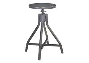 Swivel Stool, French Grey Finish (Set of 2)