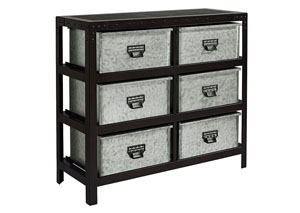 Metal Storage Bin Chest, Buckle Finish