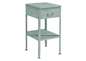 Metal French Blue Utility Side Table
