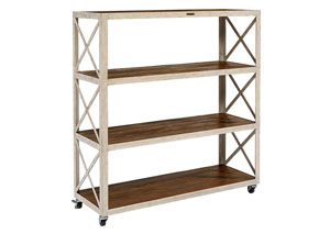 Factory Shelf, Antique White/Barndoor
