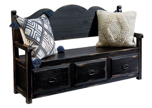 Parson's Storage Bench, Chimney Finish