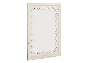 Tracery Antique White Wall Mirror