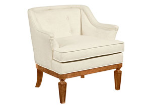 Cotillion Upholstered Accent Chair, Ivory