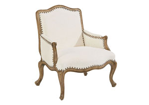 Reverie Upholstered Accent Chair, Ivory