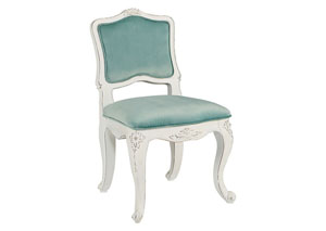 Youth Flora Accent Chair, Jo's White/Seaglass