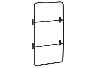 Owen Black Metal Decorative Wall Ladder