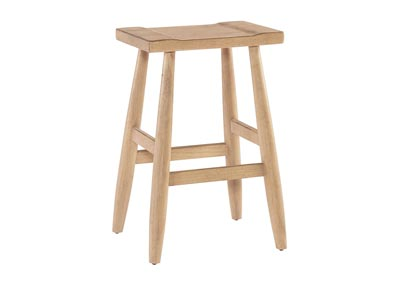 Talus Wheat Counter Height Stool (Set of 1)