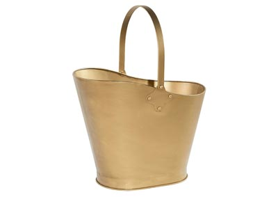 Cinder Ask Brass Bucket