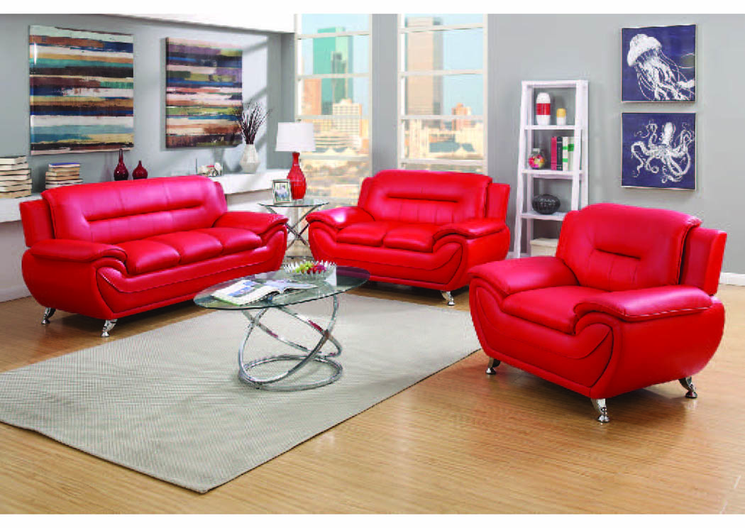 Napoli Red Leather Match Sofa Home Gallery Furniture Store Philadelphia Pa