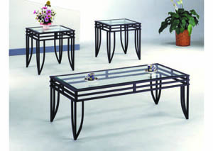 Image for Matrix Black 3-Pc Ocassional Table Set