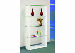 Image for Fortis White 5-Tier Wall Unit
