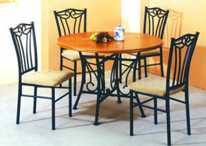 Image for Zodiac Medium Oak 5-Pc Dining Set