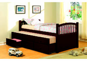 Image for Slumbertime Espresso Captain's Bed w/Trundle (12)/4540