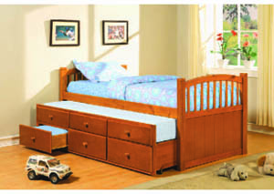 Image for Slumbertime Oak Captain's Bed w/Trundle (12)/4540