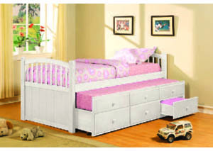 Image for Slumbertime White Captain's Bed w/Trundle (12)/4540