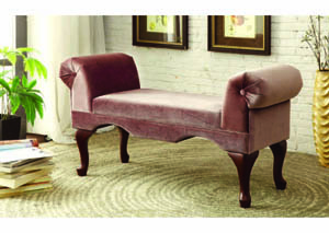 Image for Amber Bourbon Brown Scroll Bench