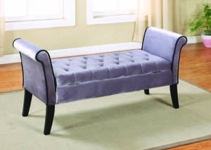 Image for Angelina Silver Loveseat Bench