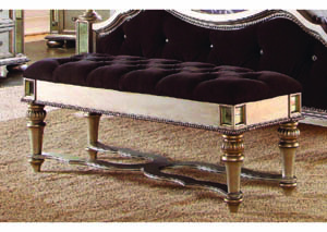 Image for Bijoux Black Upholstered Bedroom Bench