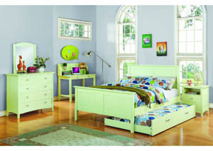 Image for Lulu 3Pc Pistachio Cream Full Bedroom Set (90130/50/60)