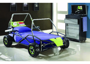 Image for Tundra Gunmetal & Lime Green Buggy Twin Bed