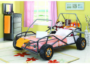 Image for Beach Buggy Gunmetal & Orange Twin Bed
