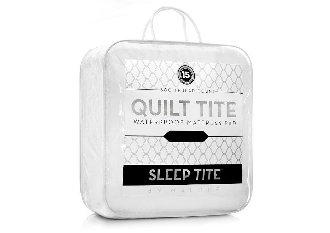 Sleep Tite Quilt Tite 600Tc Waterproof Quilted Twin Mattress Pad,Malouf