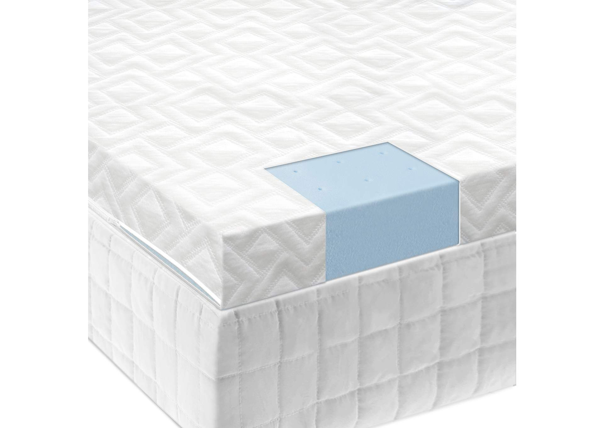 2.5 Inch Gel Memory Foam Mattress Topper Twin,Malouf