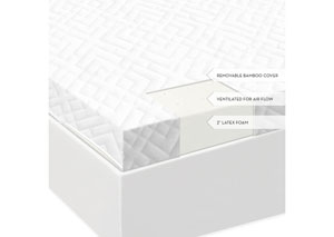 Isolus 2 Inch Ventilated California King Latex Mattress Topper