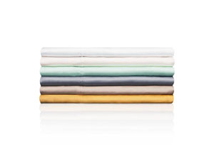 Woven Tencel White Twin Sheet Set