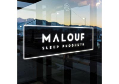 Malouf Sleep Products Promotional LED Sign