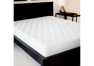 Sleep Tite King Quilted Mattress Pad w/ Damask Cover and Down Alternative Fill