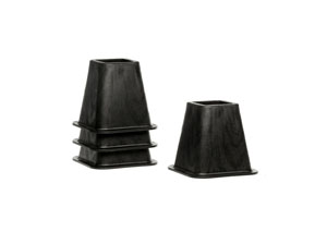 Structures 6 Inch Heavy-Duty Black Bed Risers (Set of 4)