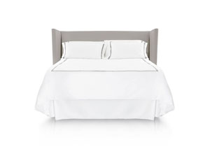 Woven California King Matelasse Solid White 14-Inch Bed Skirt
