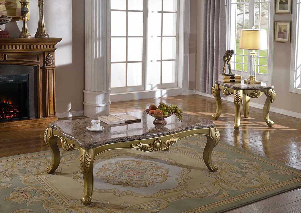Bon Rich Gold Coffee Table,Meridian Furniture