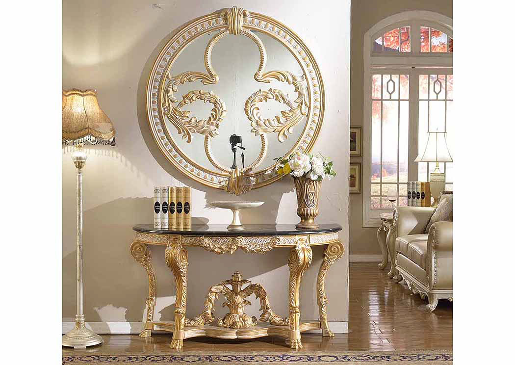 Gold Mirror,Meridian Furniture