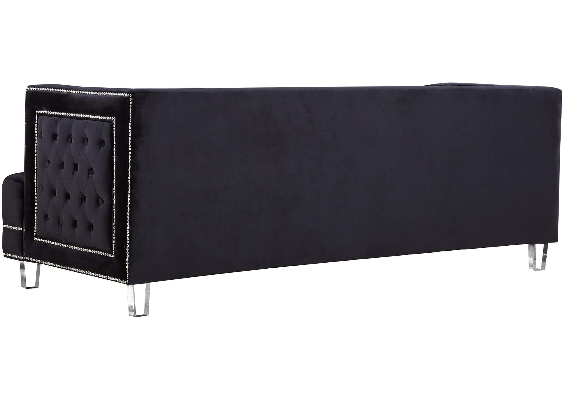 Market Furniture - Paterson, NJ Lucas Black Velvet Sofa