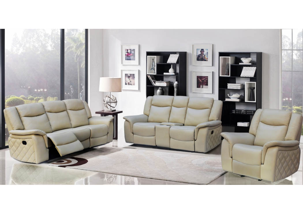 Carly Taupe Leather Sofa U0026 Loveseat,Meridian Furniture