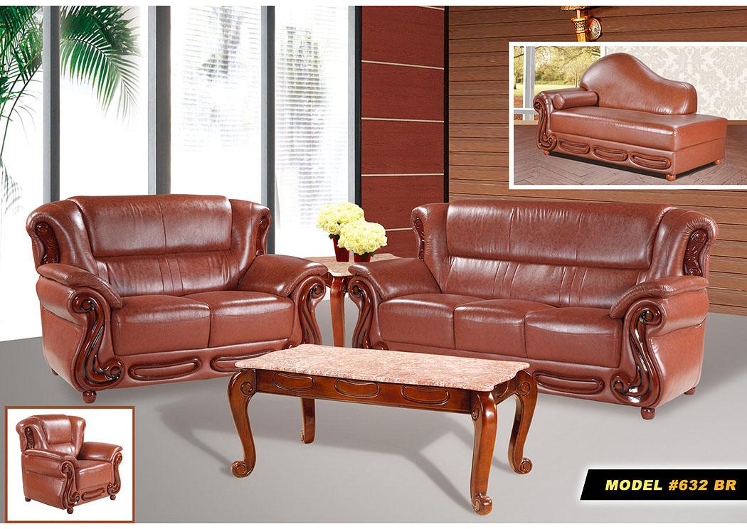 Brown Leather Sofa U0026 Loveseat,Meridian Furniture