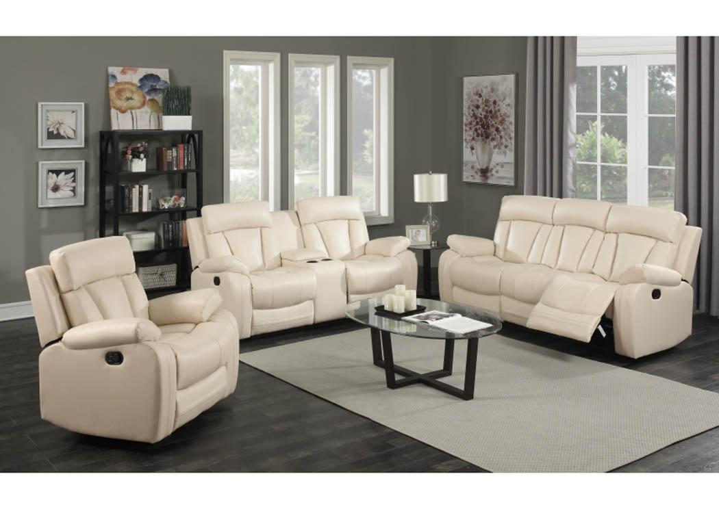 Bon Avery Beige Leather Sofa U0026 Loveseat,Meridian Furniture